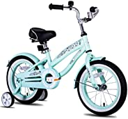 "JOYSTAR 12"" 14"" 16"" Kids Cruiser Bike with Training Wheels for Ages 2-7 Years Old Girls & B"