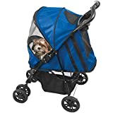 Pet Gear Happy Trails Pet Stroller for cats and dogs up to 30-pounds, Cobalt Blue