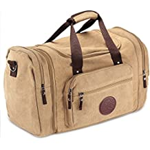 Deluxe Canvas Flight Bag Travel Duffel Durable Tote Bags for Pilots & Weekend Trips