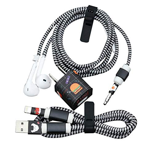 Dongtu 3 in 1 USB Cable Protective Sleeve Charger Protective Sleeve Data Line Headphone Protection Rope Winder