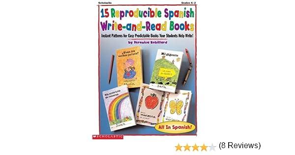 Amazon.com: 15 Reproducible Spanish Write-And-Read Books: Instant ...