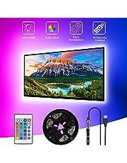 LED TV bakgrundsbelysning, SHOPLED 3M LED Strip USB TV LED ljus för 40-60 tums RGB 5050 Bias Lighting LED belysning för HDTV, TV skärm, PC
