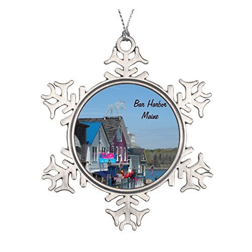 - Delia32Agnes Bar Harbor, Maine Christmas Ornaments Pewter Snowflake Ornaments for Christmas Decoration