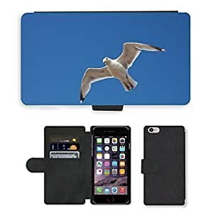 Super Stella Cell Phone Card Slot PU Leather Wallet Case // M00146369 Bird Seagull Sky Nature Birds Bill // Apple iPhone 6 PLUS 5.5""