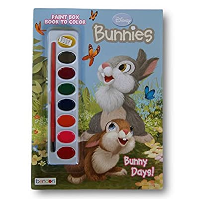 Disney Bunnies ''Bunny Days!'' Book to Color with Paint Box: Toys & Games