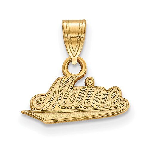 Maine Small (1/2 Inch) Pendant (14k Yellow Gold) by LogoArt