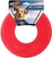 Nerf Dog Brinquedo para cães Atomic Flyer, Frisbee, leve, durável e resistente à água, ótimo para praia e pisc
