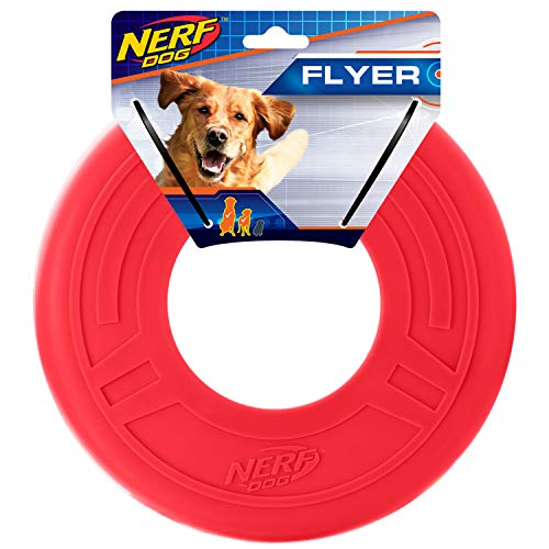 Nerf Dog 10in Atomic Flyer - Red