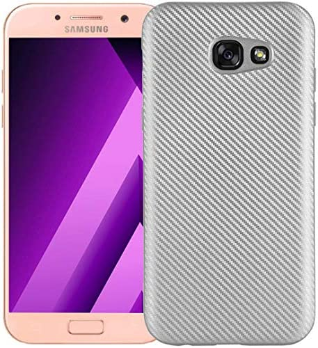 Galaxy S7 Lines ケース, Portable Twill Carbon Fiber Useful カバー, HUZIGE New Come Soft Shiny Outdoor Scratch Proof Thin Slim Phone Light ケース For Samsung Galaxy S7 Silver