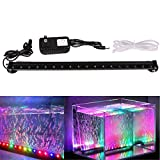 Xcellent Global Multi Color Changing 18 Inch 18 RGB LED Underwater Submersible Aquarium Fish Tank LED Lights Air Bubble Lights M-LD081S