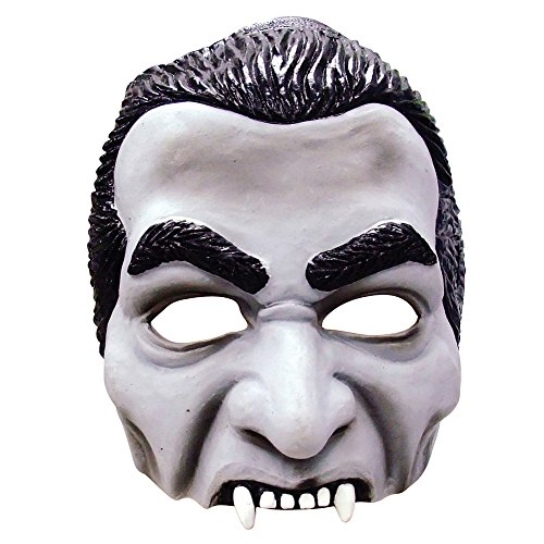 Bristol Novelty BM390 Dracula Half Face Mask, One Size ()