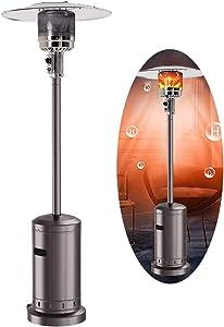 Outdoor Gas Patio Heater 46000 BTU Standing Outdoor Heater Propane Gas Portable Commercial Outdoor Heater Stove.