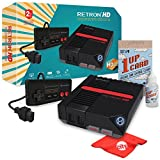 Hyperkin RetroN 1 HD Retro Video Gaming System Console for NES With Katamco 1UP Cleaning Kit and Circuit City Microfiber Cloth - Black (M01888-BK)