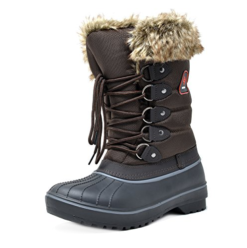 Image of DREAM PAIRS Women's DP Warm Faux Fur Lined Mid Calf Winter Snow Boots