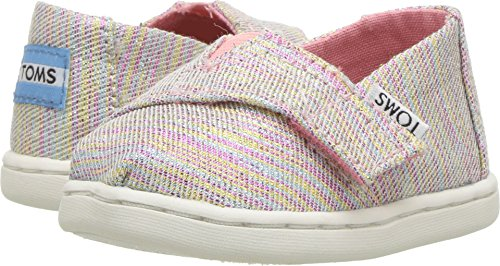 Price comparison product image TOMS Kids Baby Girl's Alpargata (Infant/Toddler/Little Kid) Pink Multi Twill Glimmer 9 M US Toddler