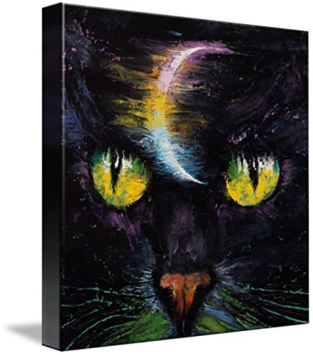 Wall Art Print entitled Moon Cat by Michael Creese | 11 x 11