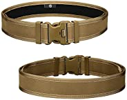 CamGo Adjustable Tactical Belt - Mens Quick Release Military Nylon Belt with Heavy Duty Buckle