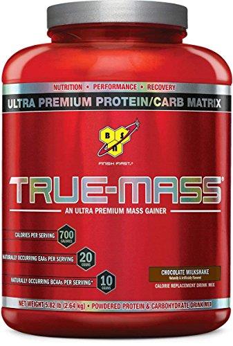 Lean Mass Chocolate - BSN TRUE-MASS Weight Gainer, Muscle Mass Gainer Protein Powder, Chocolate Milkshake, 5.82 Pound