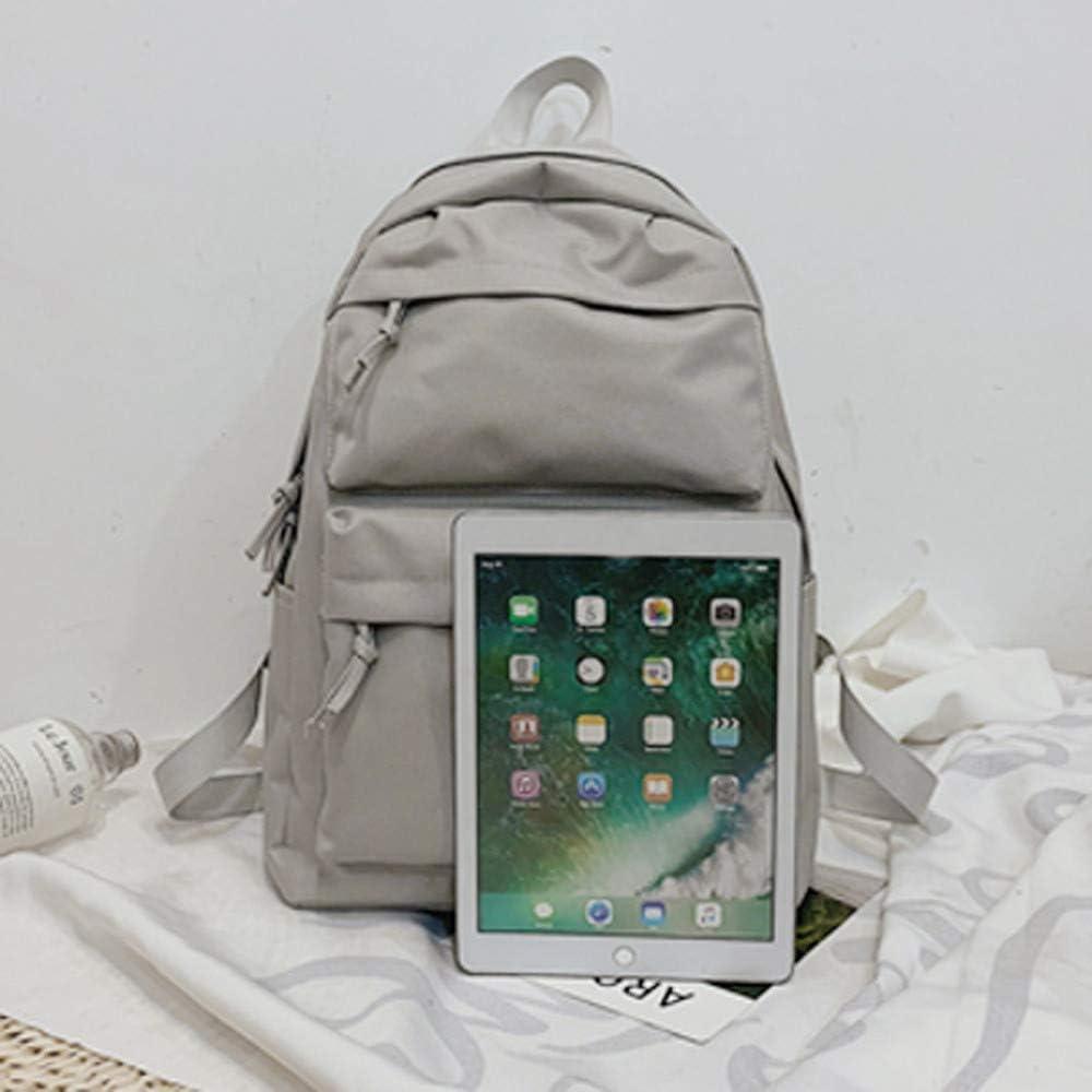 Yellow Schoolbag College Student Backpack for Women Girls Teens Travel Hiking Bag Rucksack Nylon Daypack Outdoor