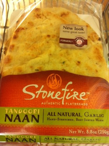 Stonefire Authentic Flatbreads All Natural 8.8 Oz, Garlic (Pack of 3)