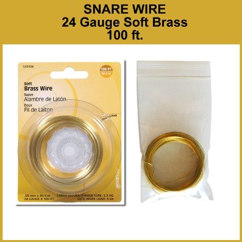 Snare Wire, Soft Brass, 24 Gauge, 100 ft. Pack (Brass Squirrel)