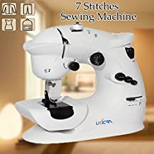 Bazaar 7 Stitches Mini Electric Overlock Sewing Machine Multifunction Portable Double Stitch Sewing Tool