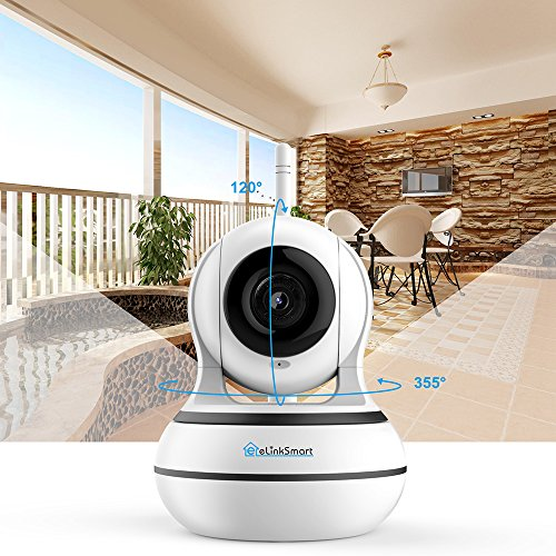 WiFi Camera Camera Pan/Tilt/Zoom Home Monitor with 960P Detection Video Recording