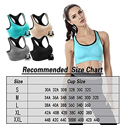 Women Racerback Sports Bras High Impact Workout Yoga Gym Activewear Fitness Bra at Women's Clothing store