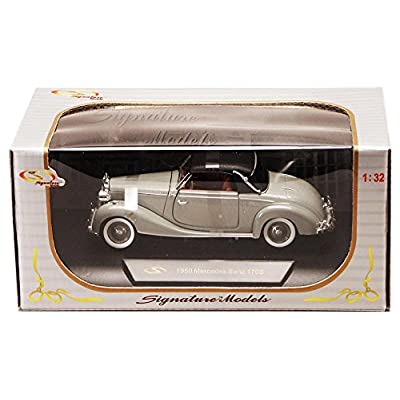 Signature Models 1950 Mercedes Benz 170S Soft Top, Gray 32375 - 1/32 Scale Diecast Model Toy Car: Toys & Games
