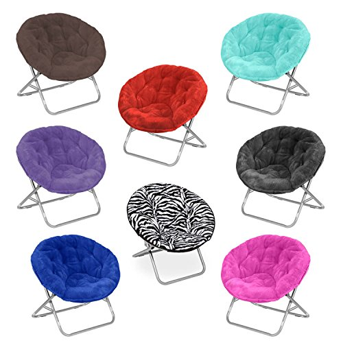 Moon-Saucer-Chairs-For-Kids-Teens-Adults-Faux-Fur-Folding-Padded-Portable-Gaming-Chair-Bundle-includes-2-In-1-Stylus-Pen-from-Designer-Home