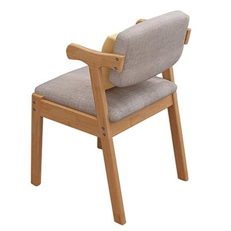 Amazon.com: Silla giratoria de madera para comedor, silla de ...