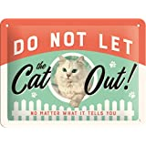 Nostalgic-Art 26189 Animal Club - Do Not Let The Cat Out, Blechschild 15x20 cm