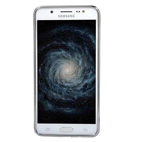Carcasa para Galaxy J5 (2016 ) Sunroyal® para Samsung Galaxy J5 (2016 ) J510 Funda Reflexión Brillante Lujo Espejo Carcasa Aluminio Carcasa Metal Mirror Bumper Phone Case Hard Cover With Frame Caja de Diseño 18