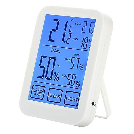 Besttse LCD termómetro Digital higrómetro Interior Monitor de Humedad y indicador de Temperatura