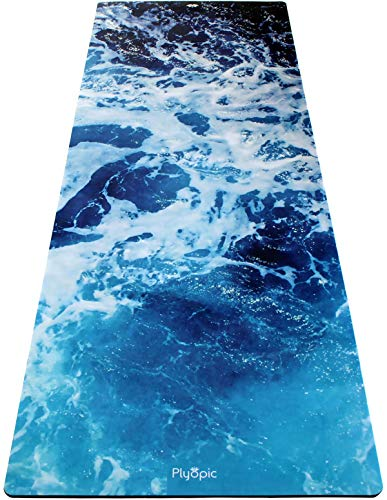 Plyopic All-in-One Yoga Mat | Luxury Sweat-Grip Mat/Towel Combo | Eco-Friendly Natural Rubber | Best for Yoga, Pilates, Exercise, Workout, Bikram and Hot Yoga