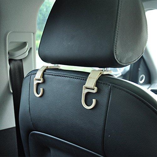Durable Service ZACOO 4 Pcs Car Seat Back Mini Hooks Headrest Hanger Holder