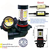 Wiseshine 9005 HB3 red led fog light bulb design DC9-30v 3 years quality assurance (pack of 2) 9005 22smd 3030 red