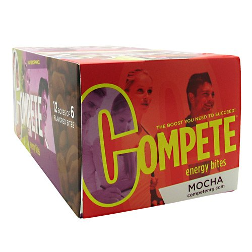 Compete Energy Bites Mocha 12 Boxes of 6 Bites