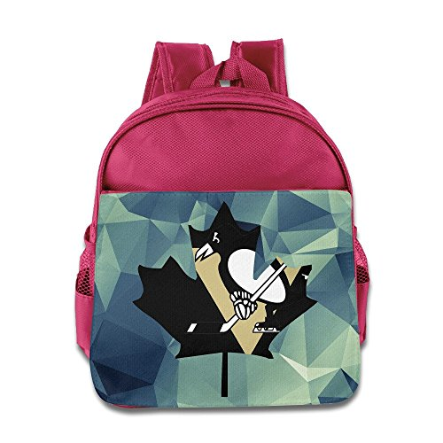 [VOLTE Maple Canada Hockey Pink Backpack Bag For Children School Travel Schoolbag] (Hockey Stanley Cup Costume)