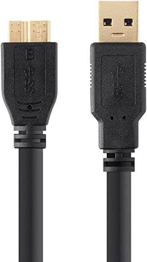 UC-E22 USB Cable for Nikon DSLR D500 Camera, USB 3.0 A to Micro B Cable, 6 Feet