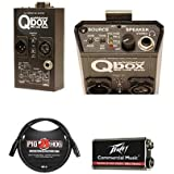 Whirlwind Qbox Audio Line Tester/Cable Tester/Test Tone Generator - Bundle Peavey 9 Volt Battery, 3 8mm XLR Microphone Cable