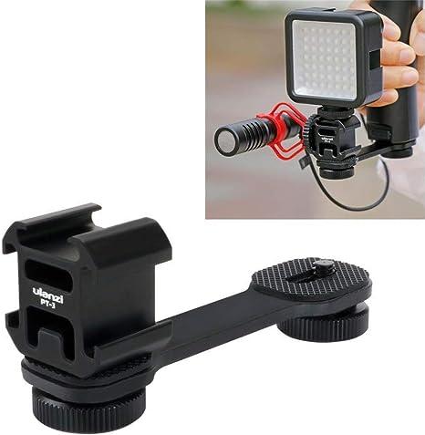 Microphones Flash Speedlite Adjustable Aluminium Alloy Cold Shoe Extension Mounting Bar 10cm Cold Shoe Rail for DSLR Accessories: LED Lights Monitors