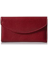 Buxton Roma Check Clutch, Dark Red