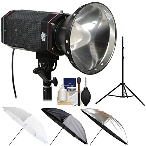 - Smith-Victor CooLED100 100W Portable LED Studio Light with Light Stand + 3-in-1 Umbrella Kit