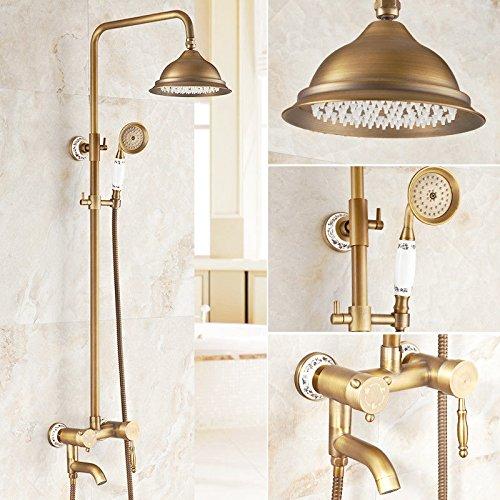 G Hlluya Professional Sink Mixer Tap Kitchen Faucet The copper shower set retro shower hot cold water faucet bathroom full copper antique shower,K