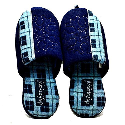 Para hombre de la raya del tartán abrir de nuevo las zapatillas Blue