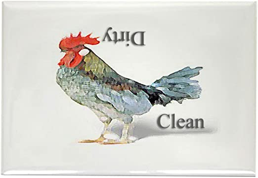 Dishwasher MAGNET ROOSTER #2 SHIP FREE! Clean//Dirty