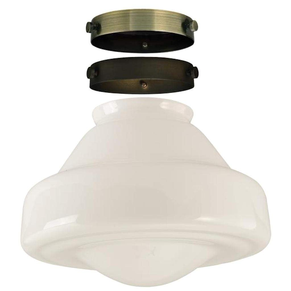 Westinghouse 81025 - 2.25'' Fitter White Opal Schoolhouse Glass Shade Kit (81025)