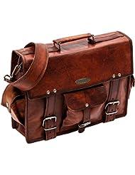 Handmade_world Leather Messenger Bags 15 For Men Women Mens Briefcase Laptop Computer Shoulder Satchel School...