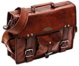 Handmade_world Leather Messenger Bags 15'' for Men Women Mens Briefcase Laptop Computer Satchel School Distressed Bag